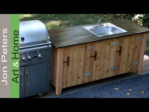 Really Good Tutorial For The Doors Attachmenthow To Build An Outdoor Kitchen Cabinet Outdoor Kitchen Cabinets Outdoor Kitchen Countertops Outdoor Kitchen