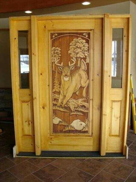 Beautiful Handcarved Animal Carved Doors Wood Carvings