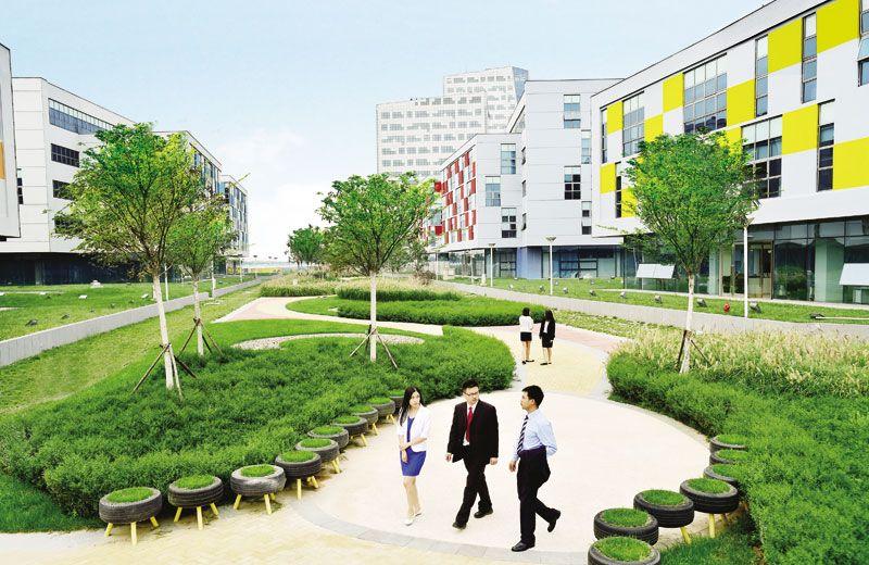 EcoBusiness Park 生态科技园 Eco city, Rainbow garden, Park