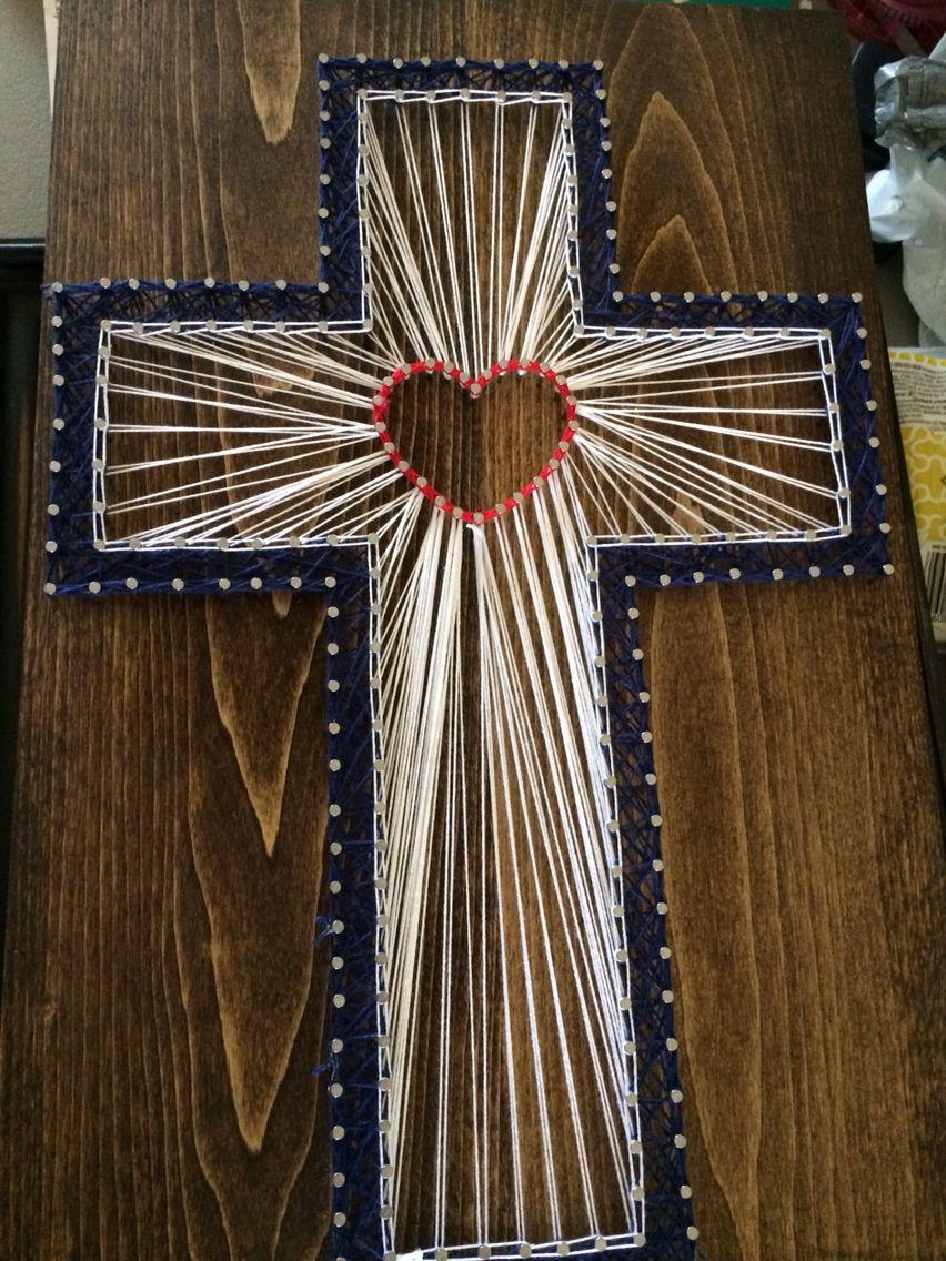 Cross String Art Religious