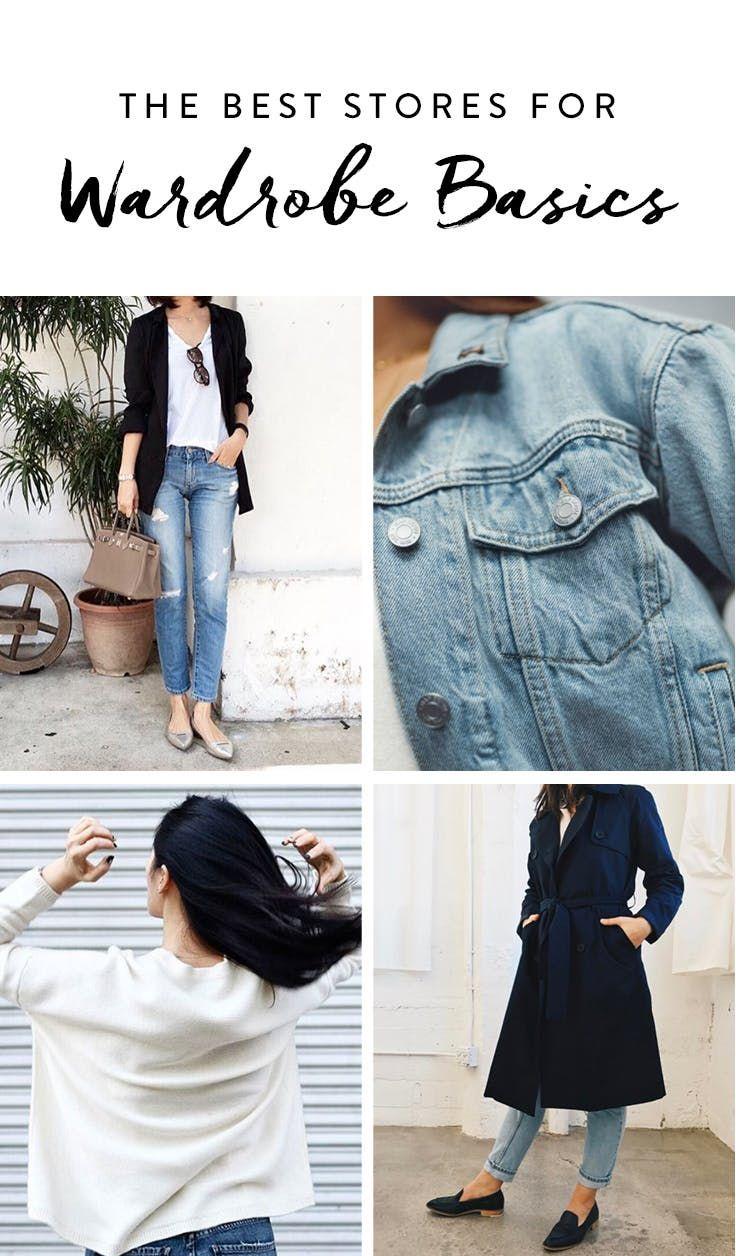 the absolute best places to shop for wardrobe basics via purewow fondamentaux de garde robe