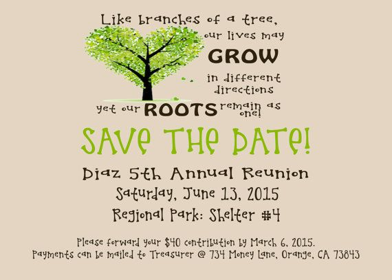Save The Date Flyer Family Reunion PRINTABLE DIGITAL  Family Reunion Flyer