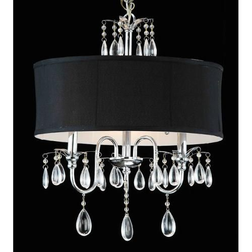 Teardrop placement for chandelier makeover -love it!!!