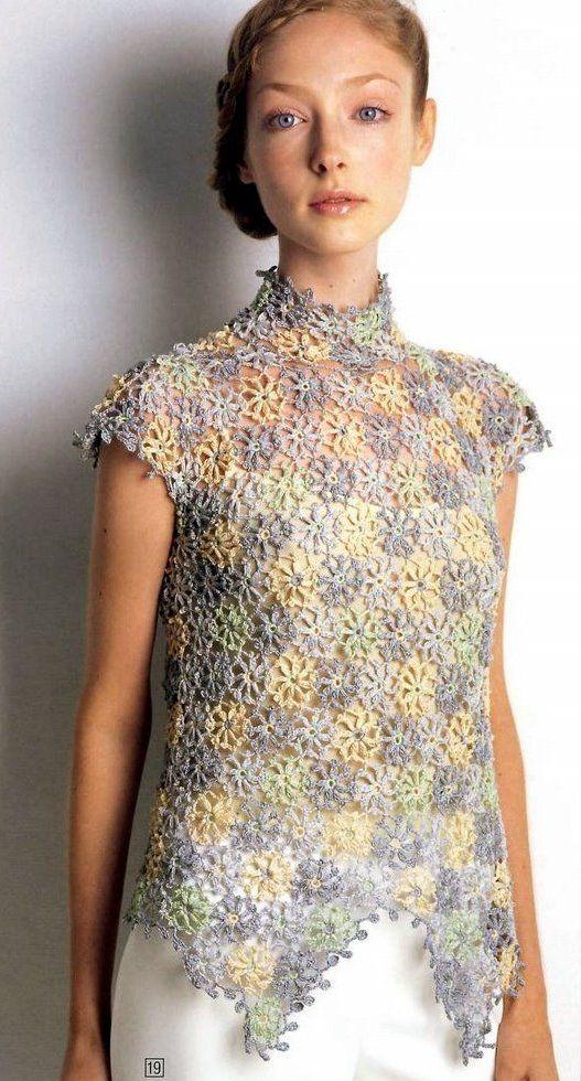Crochetpedia: Crochet Shirt Blouse Patterns 2 ...