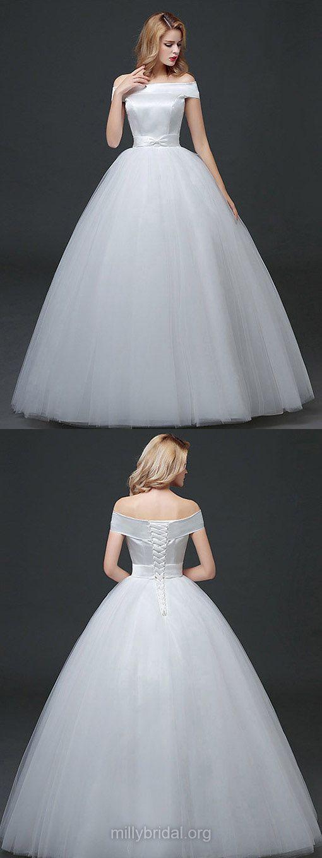 Ball Gown Wedding Dresses Off-the-shoulder, Cheap Wedding Dress 2018 ...