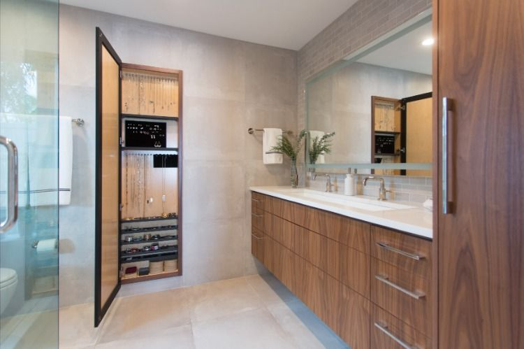 Mj Designs Master Bathroom Remodel With Hidden Jewelry Cabinet St
