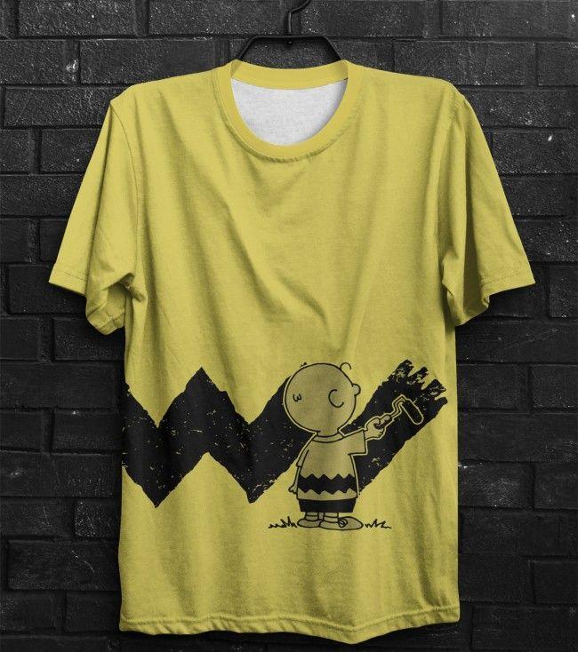 Camiseta Charlie Brown Paint  94248e82dcd