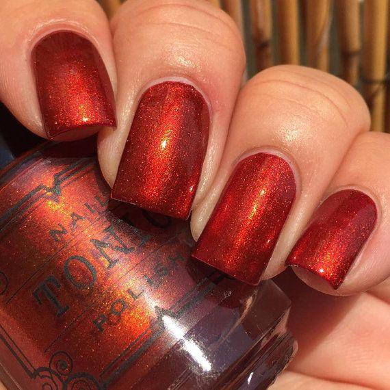 Lava By Tonicpolish On Etsy Orange Nail Polishnail