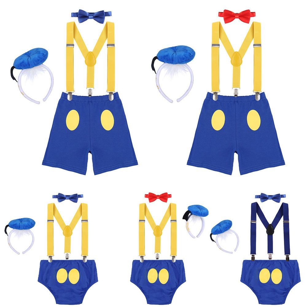 Donald Duck Costume Toddler Baby Boy 1st Birthday Cake Smash Outfit Photo Props