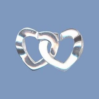 Silver Heart Clasp - 15mm beads.co.uk