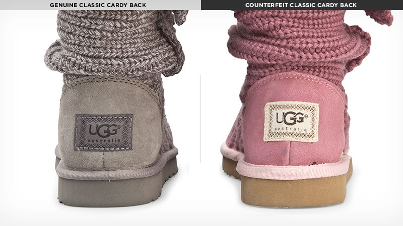 how can you tell if your ugg boots are fake