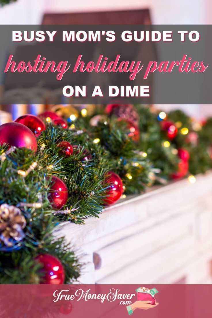 Are you hosting the next holiday celebration? Follow these frugal holiday party ideas for easy holiday party food and cheap holiday party decorations to make it the best one yet! Use these holiday celebration ideas for your next party! #truemoneysaver  #christmas  #christmasparty  #party #partyplanner #holiday #holidayparty #holidaypartyideas #holidaypartydecor #holidaypartyfood #christmaspartydecor #christmaspartyfood #christmaspartytime