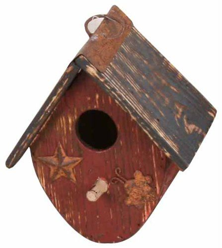 Garden Decoration ZH09007BUR Birdhouse 7Inch Burgundy -- This is an Amazon Associate's Pin. Click the VISIT button to find out more on Amazon website.