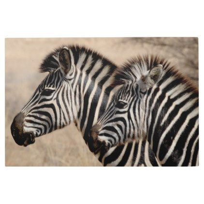 Wild Zebra Metal Print Zazzle Com Zebra Pictures Zebras Zebra