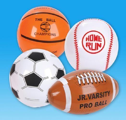 Details About 24 Inflatable Sports Beach Balls 16 Blowup Football Soccer Aa22 Sports Balls Soccer Ball