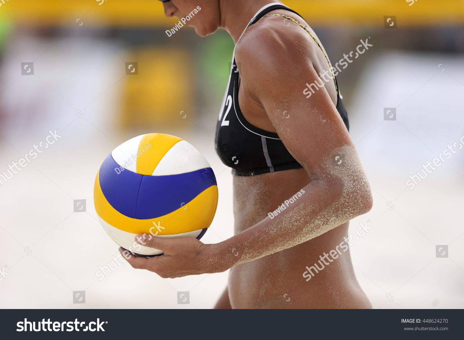 Volleyball Beach Player Is A Female Athlete Volleyball Player Getting Ready To Serve The Ball On The Beach Ad Sponsored Female Athletes Athlete Volleyball