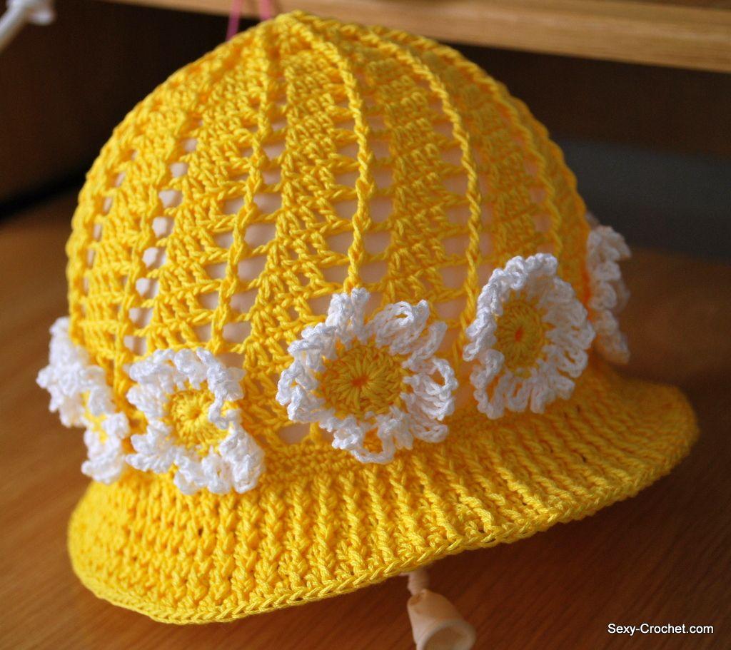 Hermosas gorritas tejidos de crochet para niñas. | SexyCrochet ...