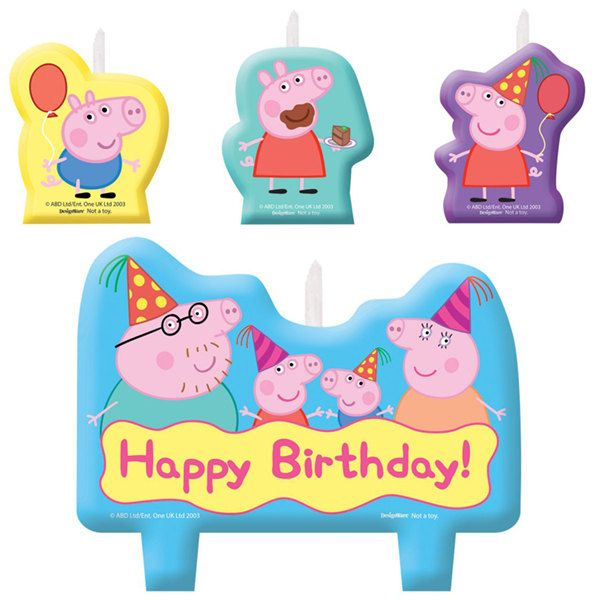 Peppa Pig Candle Set 1 (set)