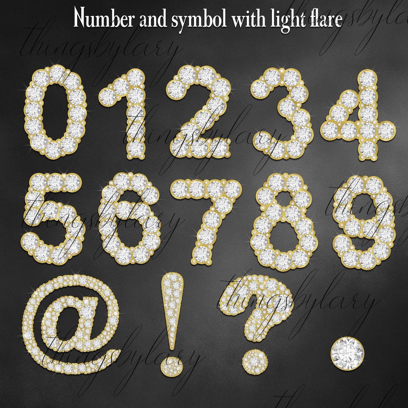 81 Gold And Diamond Alphabet Number Symbol Clip Art Not Font By Artinsider Thehungryjpeg Com Alphabet Sponsored Number Dia Clip Art Symbols Light Flare
