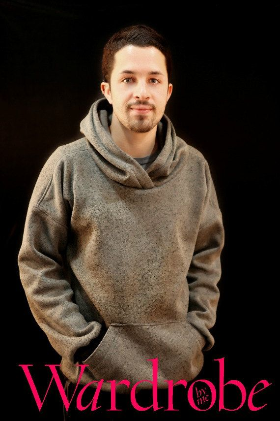 Hoodie sewing pattern, hoodie pattern for men, men\'s hoodie PDF ...