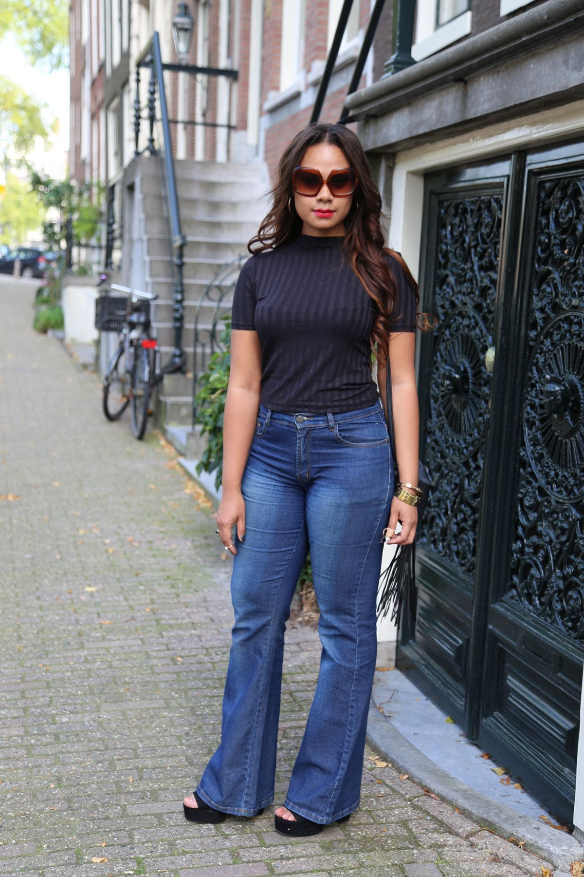 Amsterdam fashion blogger- street style- flare jeans- trends ...