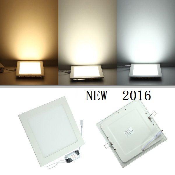 25 Watt Square Led Ceiling Light Recessed Kitchen Bathroom Lamp