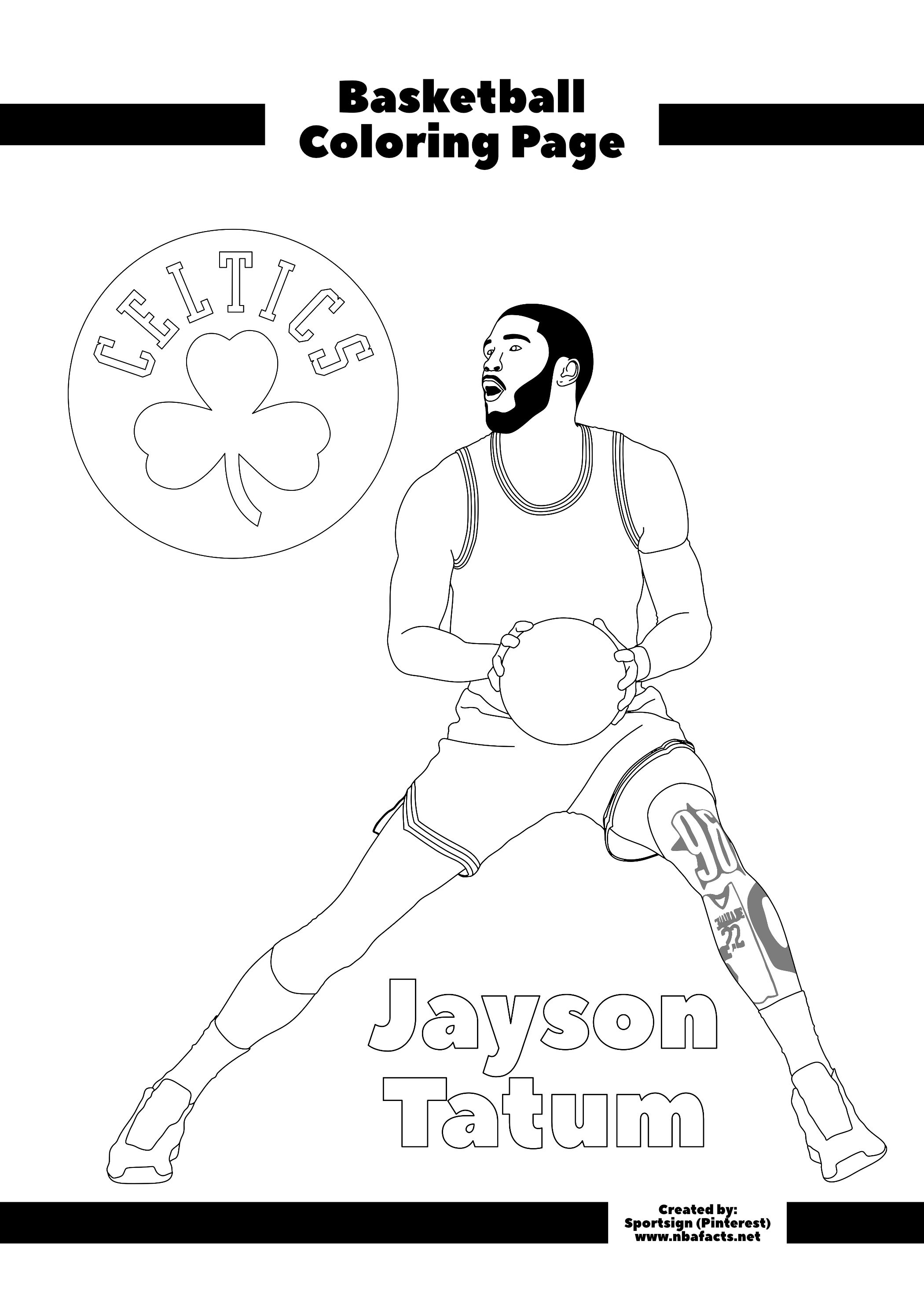 Nba Basketball Coloring Pages