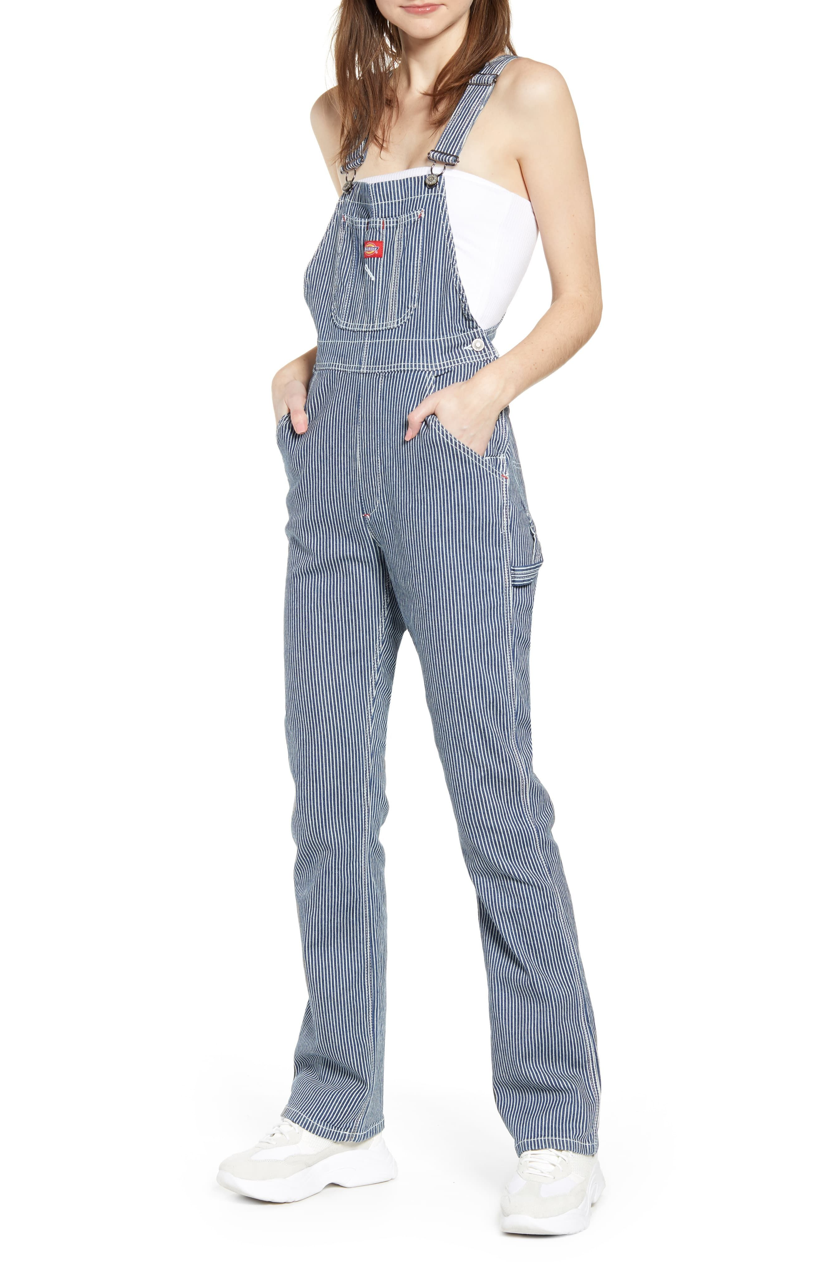 dickies hickory stripe overalls overalls women fashion on dickies coveralls id=71676