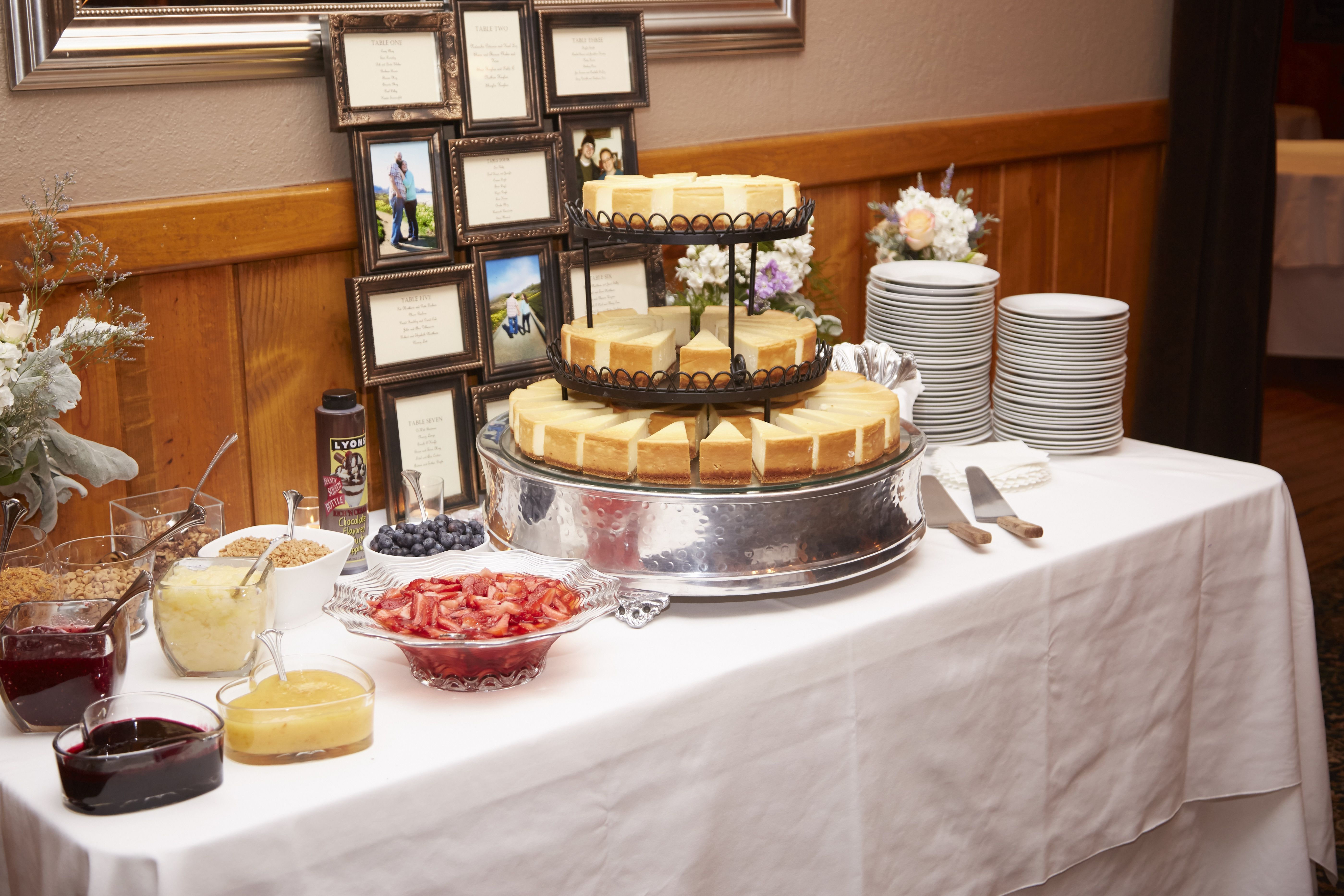 Wedding Cheesecake Bar With Many Toppings Cheesecake Wedding