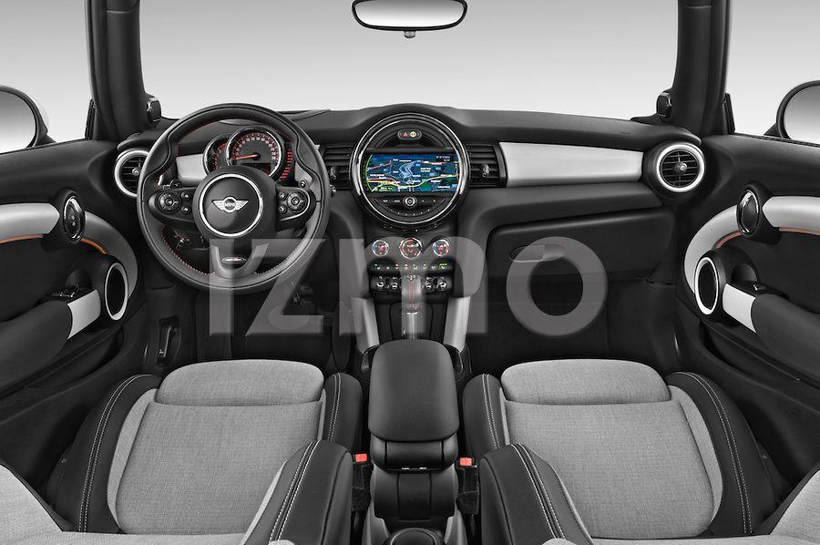 Dashboard View of Black 2015 Mini Cooper S Hatchback