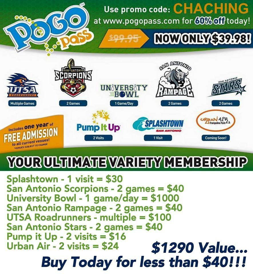 Pogo Pass Coupon Code Entertainment Card For Arizona Texas Las Vegas Chicago Kansas Pogo Pass Entertaining Pogo