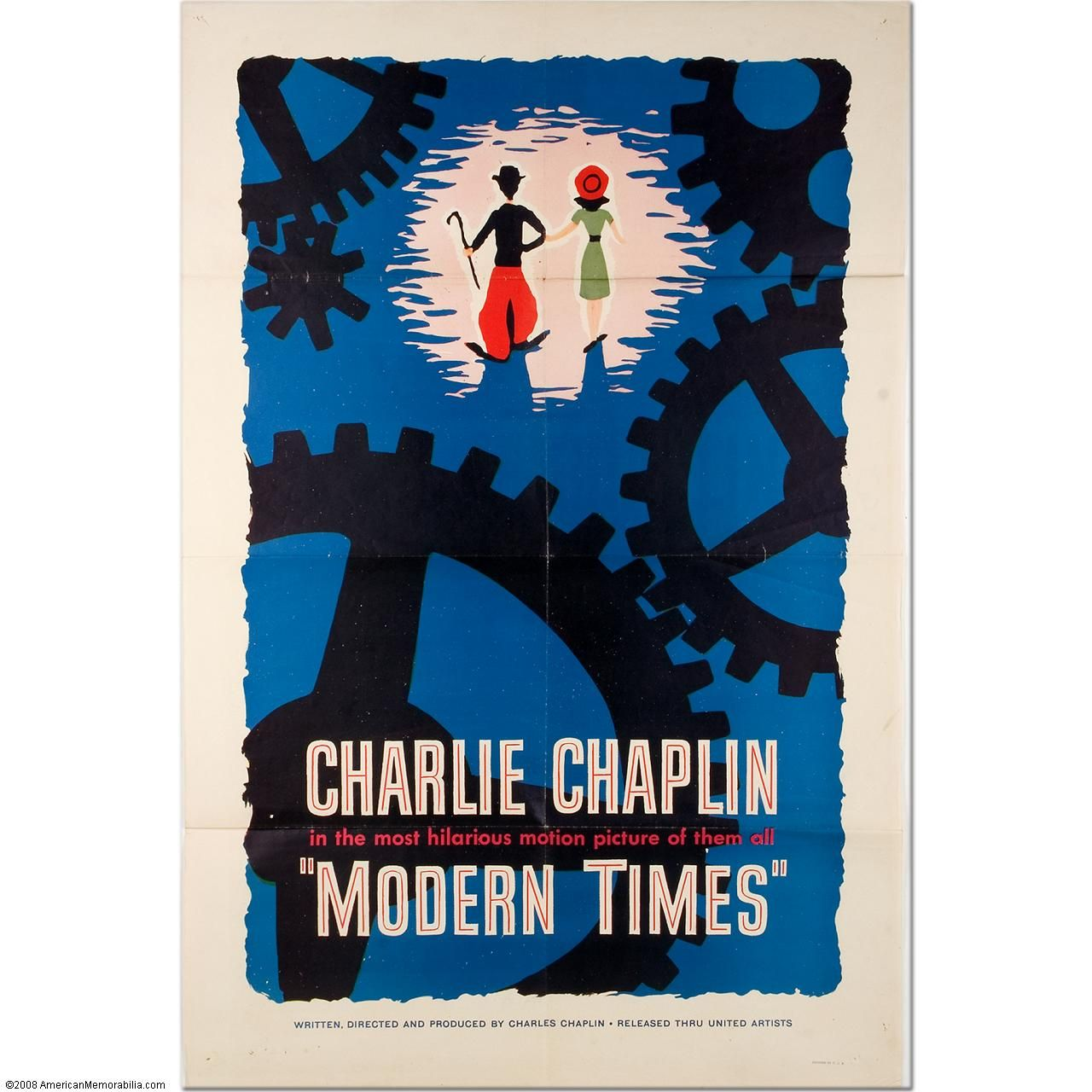 "Charlie Chaplin's ""Modern Times"" Original One-Sheet Movie ..."