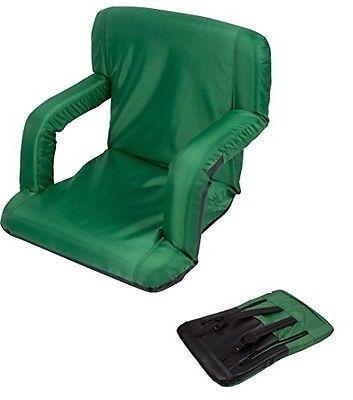 Trademark Innovations Portable Recliner Seat Dark Green