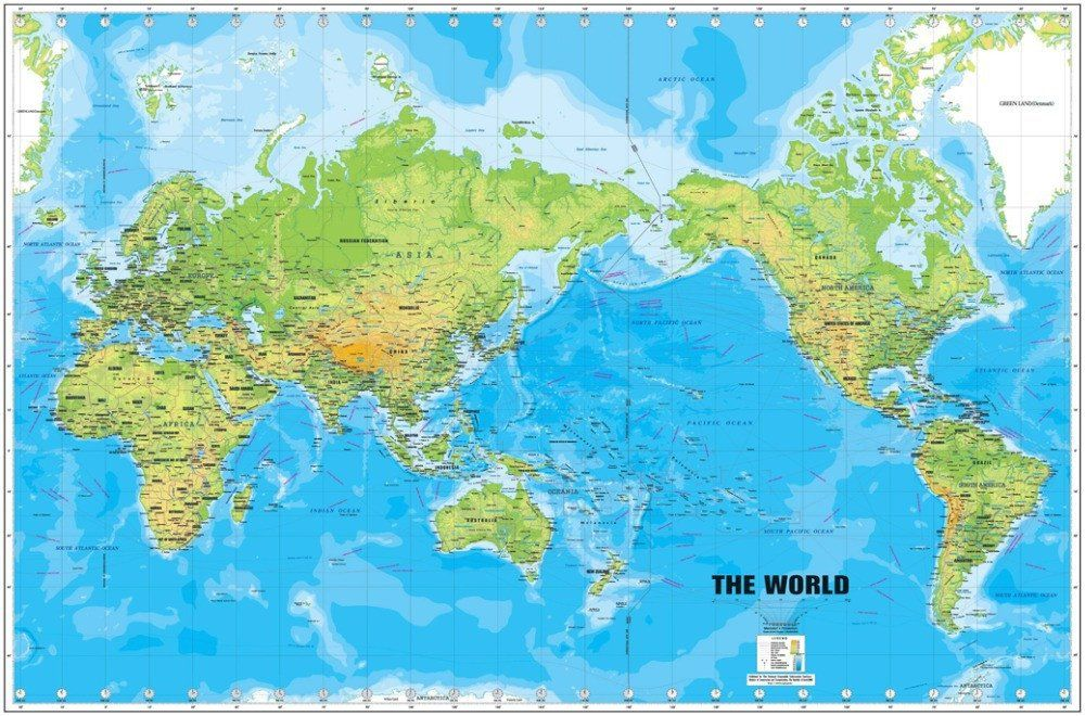 World map large detailed physical cloth poster 242 online on sale at world map large detailed physical cloth poster 242 online on sale at wall art store gumiabroncs Gallery