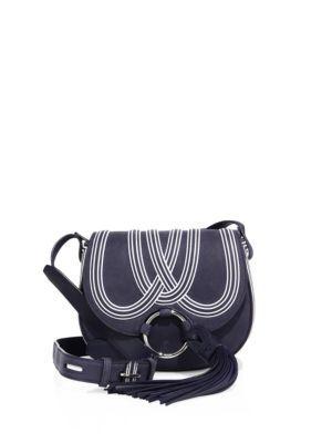 f40b0809fbb TORY BURCH Tassel Mini Suede Saddle Bag.  toryburch  bags  shoulder bags   lining  cotton  crossbody  suede