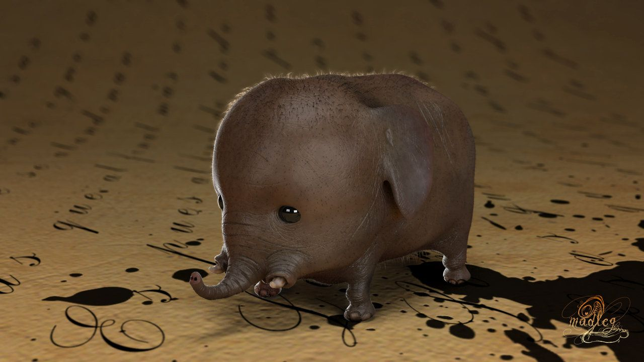 Micro Elephant By Ibidefieit I Couldnt Help Myself Look How Freaking Cute