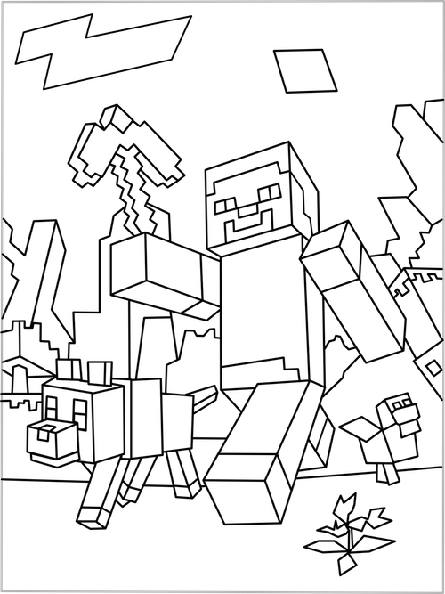 Coloring Pages Of The Diamond Minecraft. Printable Minecraft World coloring page  Pinterest