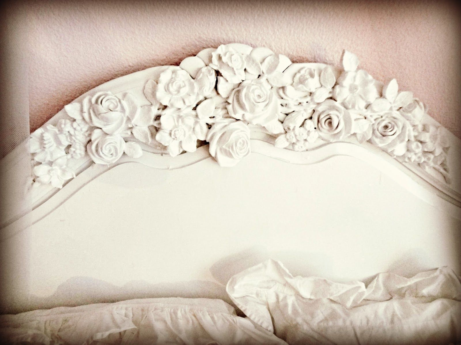 Headboard applique how to. the floral appliques are at www