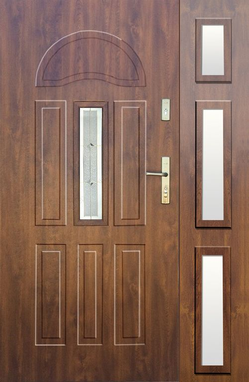 Fargo 34B DB - front door with side panel #doublefrontentrydoors