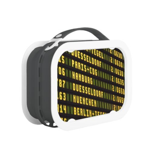 Germany Departure Board Lunchbox