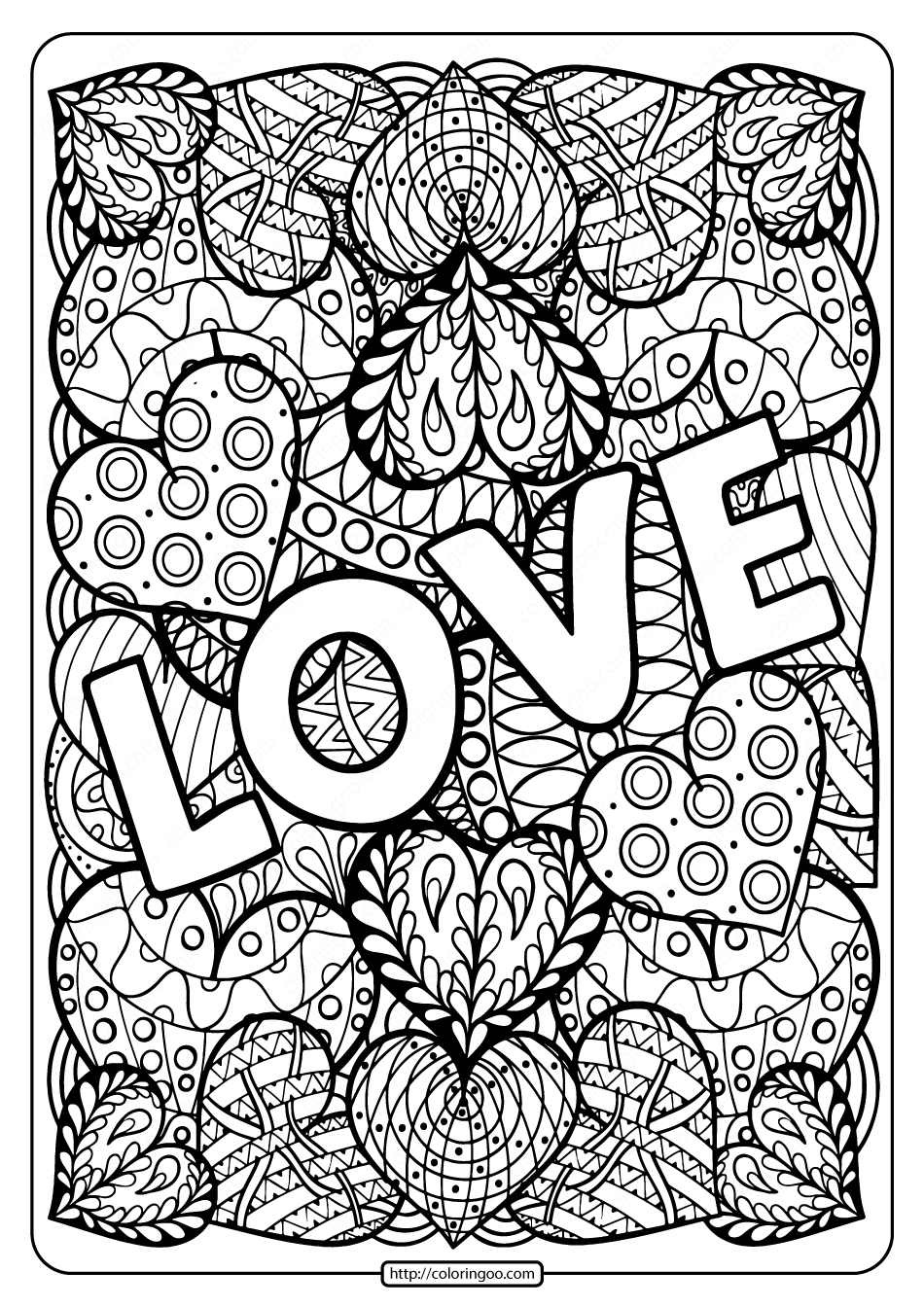 Free Printable Love Pdf Coloring Page Coloring Pages Love Coloring Pages Free Coloring Pages