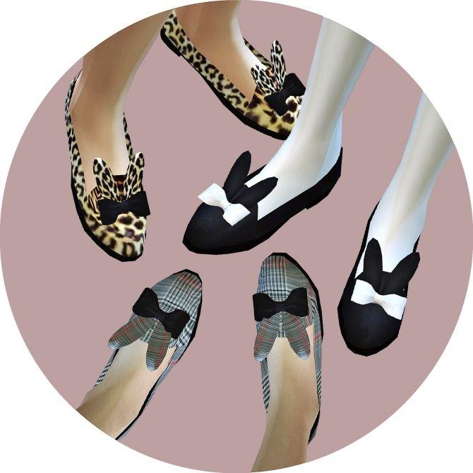 Rabbit flat shoes at Marigold via Sims 4 Updates