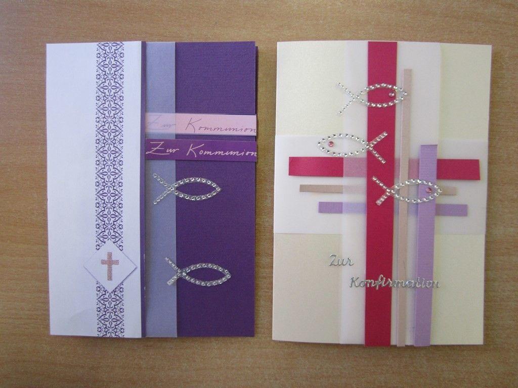 karten zur kommunion selbst gemacht, einladungskarten und, Einladung