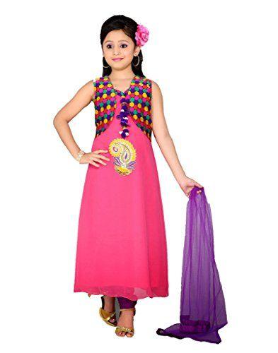 b22074afd Adorable Pink Kids Girls Designer Indian Partywear Salwar Kameez Suits  PinkCityCreations http://www