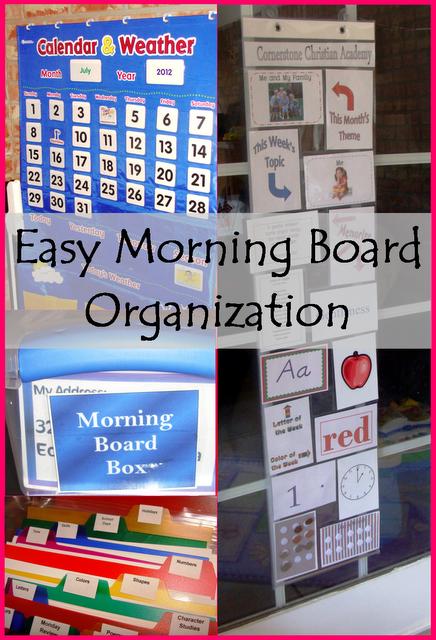 Easy Morning Board Organization