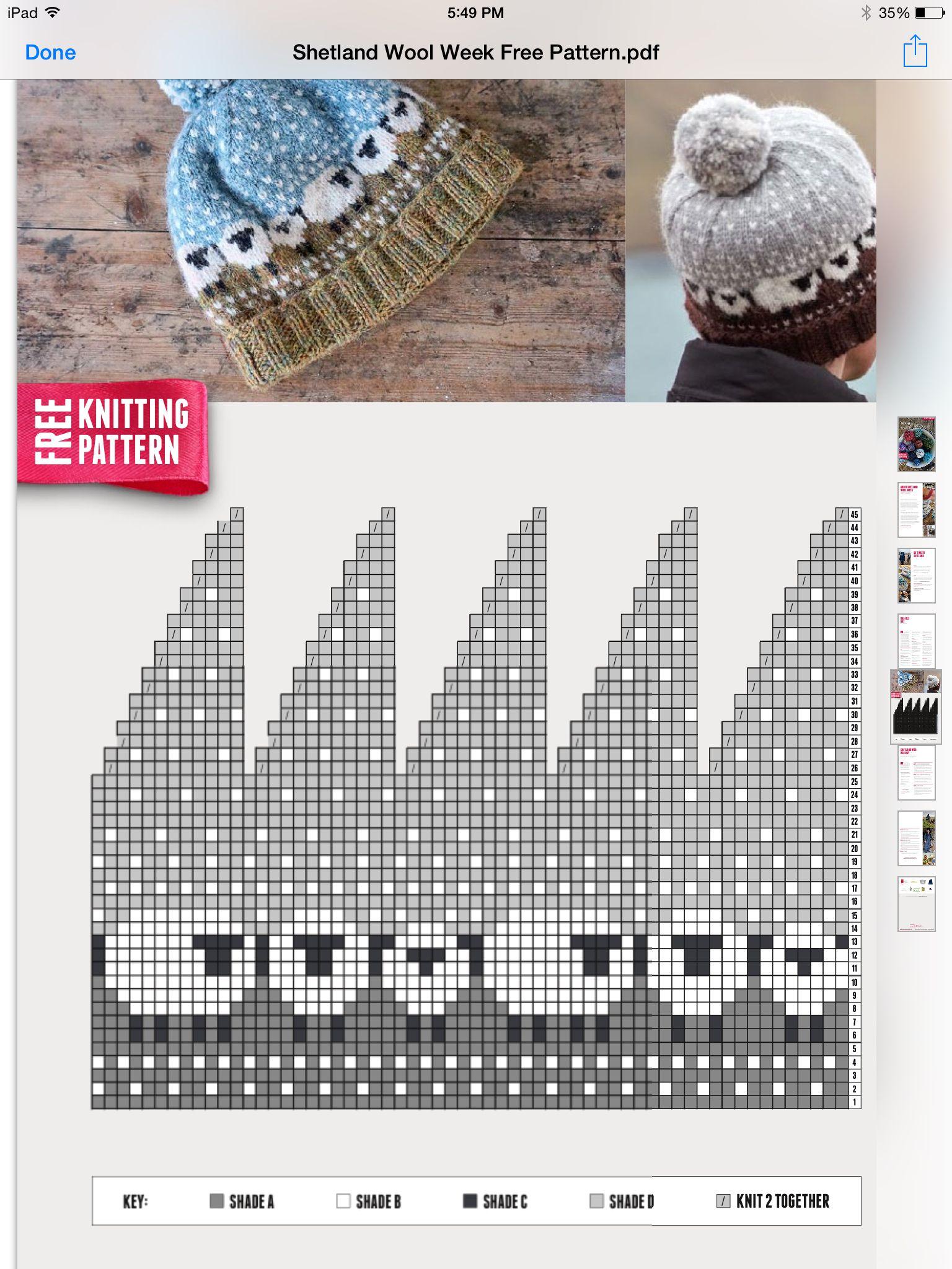 Mütze mit Schafen | strickanleitung und muster | Pinterest | Mütze ...