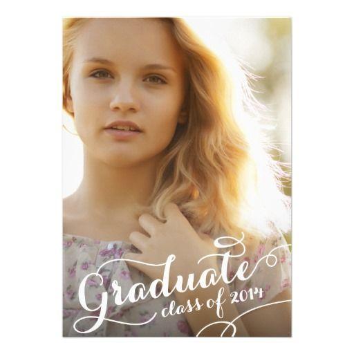 Pretty Script | 2014 Graduation Party Invitation