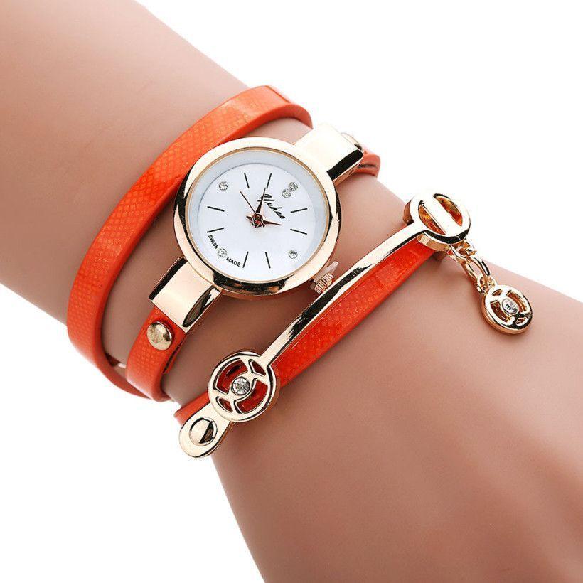 Creative Fashion Wrist Quartz Watches Women Leather Strap Band Popular Watch Shopping Travel Casual Quartz-watch