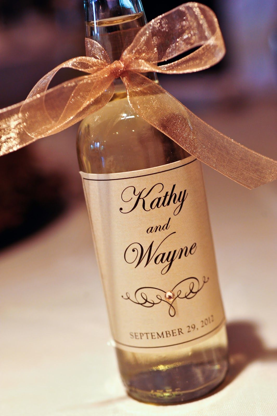 Mini Wine Bottle Label Wedding Favors \\ Thank You Script | Mini ...