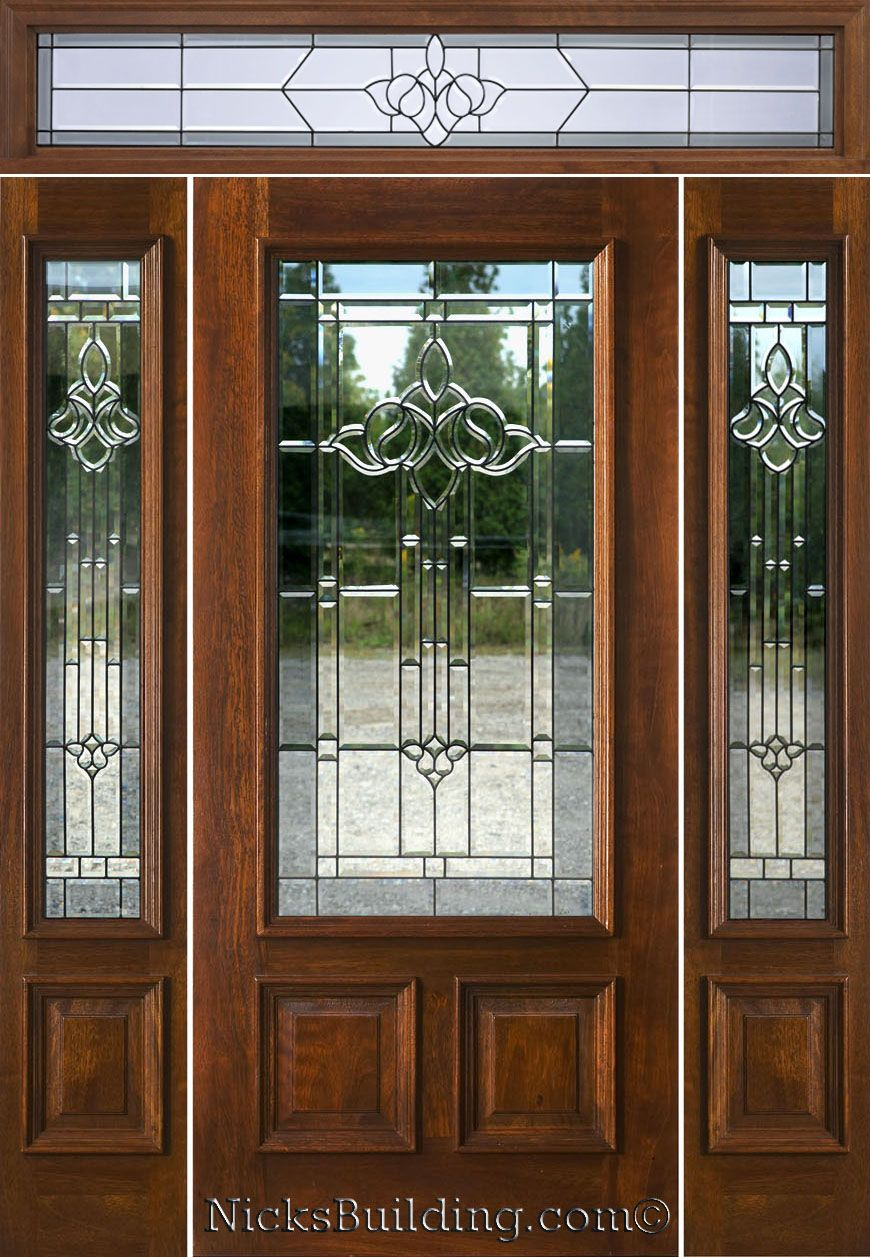 New Entry Doors with Sidelights and Transoms